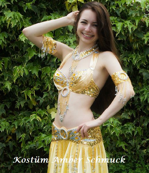 """Jewelry gold for costume """"Amber"""""""