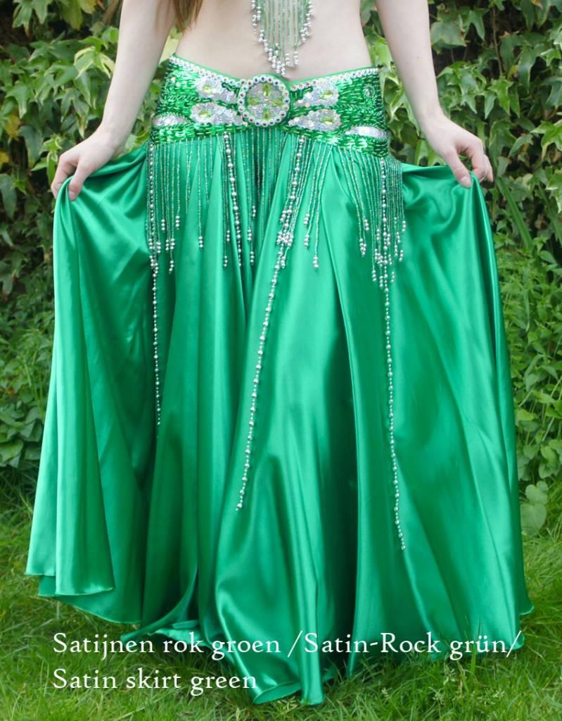 "Belly dance costume ""Raja"" in green"