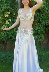 Bauchtanz-Kostüm Selena in weiß