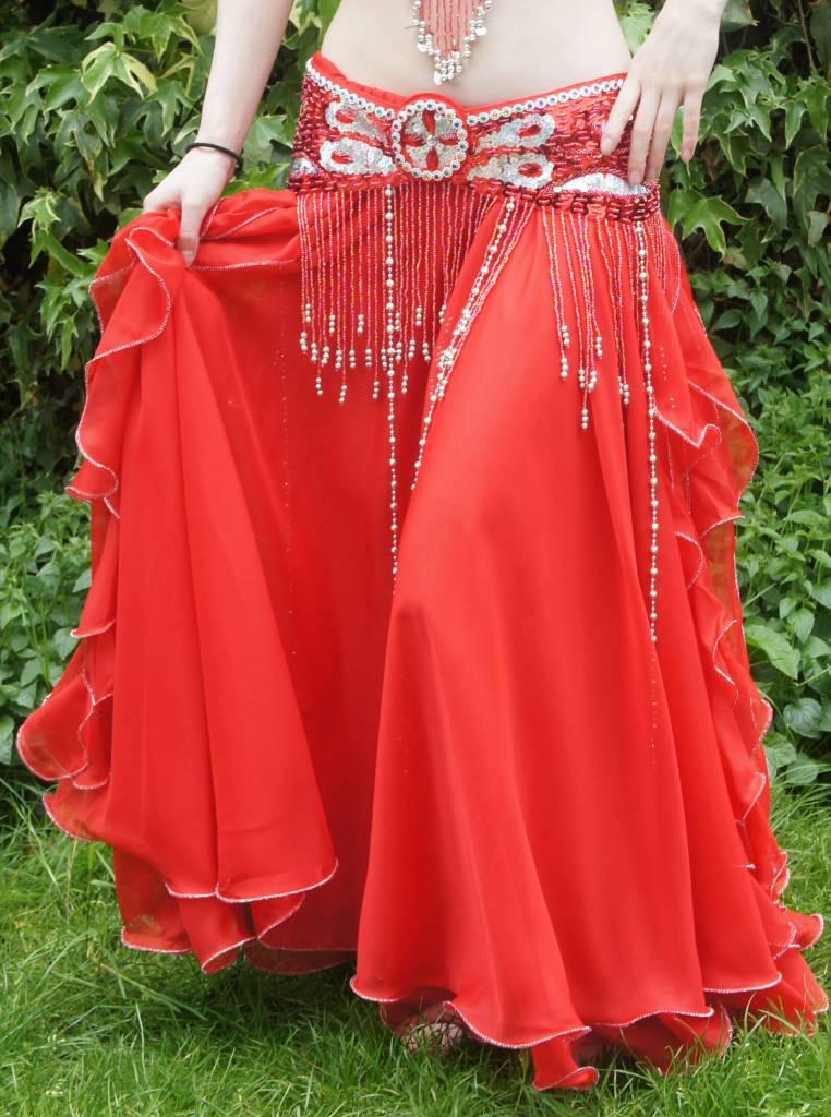 Bauchtanzkostüm 'Malika' in Rot