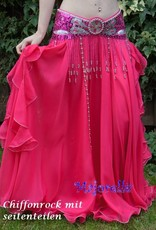 """Belly dance costume """"Souad"""" in fuchsia pink"""