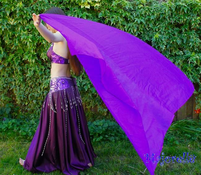 Seiden schleier in lila