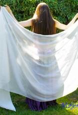 Silk belly dance veil white
