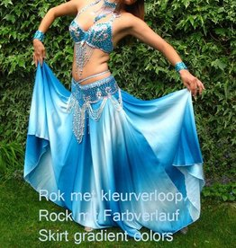 """Belly dance costume """"Kenza"""" in turquoise"""