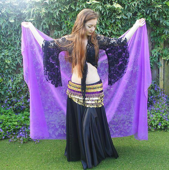 Purple chiffon veil