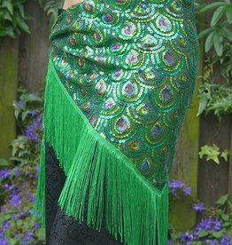Hip scarf shining green