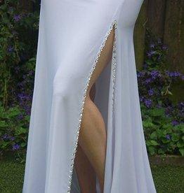 White skirt with split