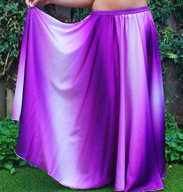 Skirt with gradient color in purple/white