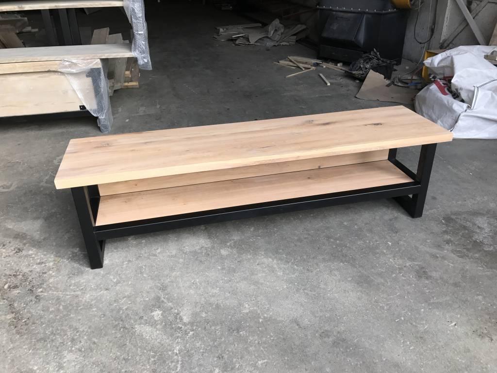 Tv meubel hout & staal naar wens samen te stellen firma hout & staal