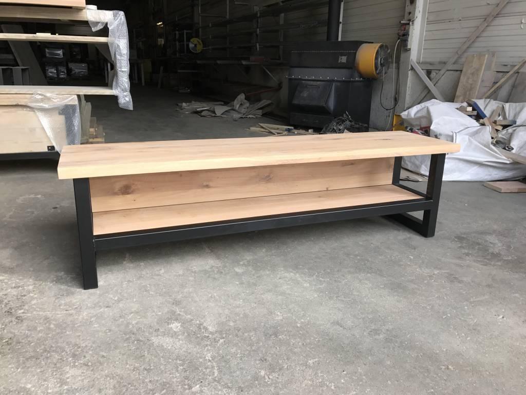 Bekend TV-meubel Hout & Staal naar wens samen te stellen - Firma Hout & Staal &TF75