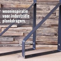 4x wooninspiratie voor industriële plankdragers