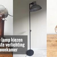 Een mooie lamp kiezen voor de juiste verlichting in de woonkamer
