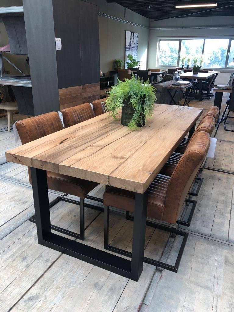 Nieuw Oud massief eiken tafel | 6 cm dik tafelblad | Gratis thuisbezorgd WW-11