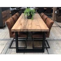 Oud massief eiken tafel 6 cm