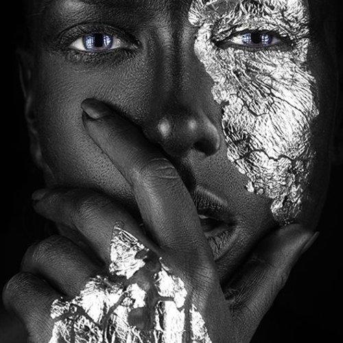 Fashion portrait Dark skinned