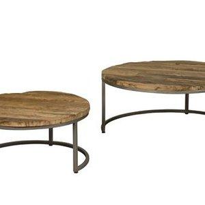 Robuuste salontafel set van 2