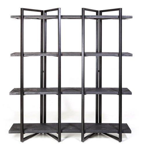 Wandkast hoog - zwart