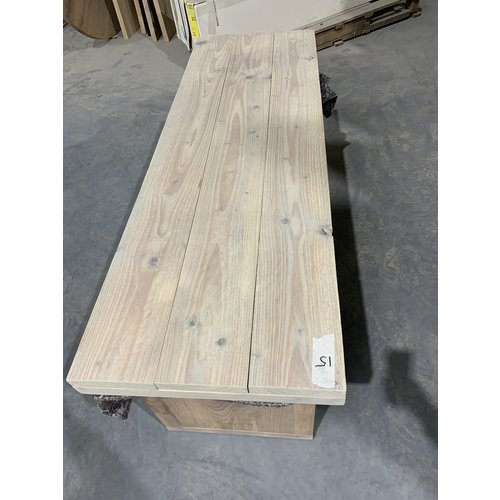 Losse bladen gebruikt steigerhout 150 x 49 cm cm Tv-meubel hoog-laag 15/16