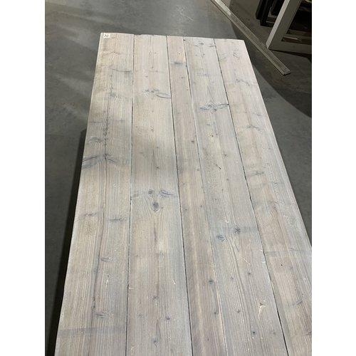 Eettafel U-frame 89 x 180 cm gebruikt steigerhout white wash 32