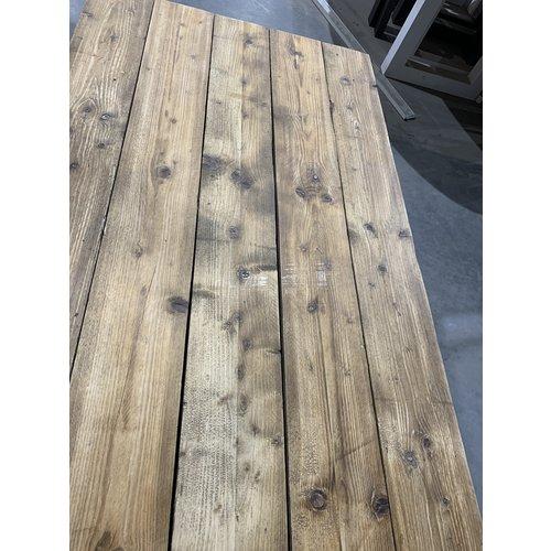 Eettafel U-frame 97 x 190 cm gebruikt steigerhout transparant 31
