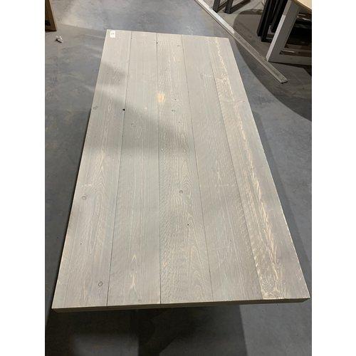Eettafel U-frame 200 x 98 cm old look steigerhout grey wash 22