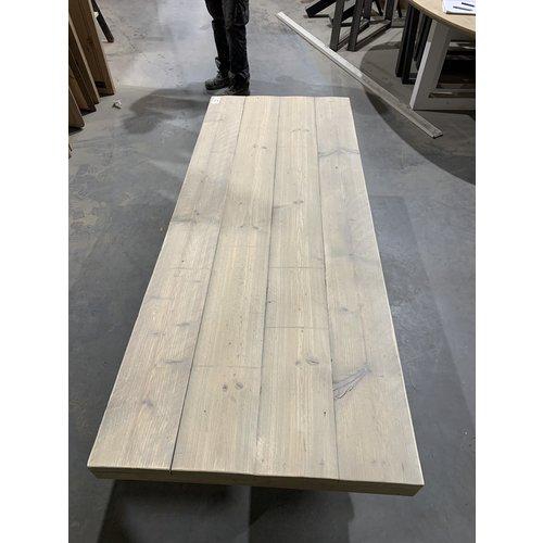 Eettafel U-frame 200 x 78 cm gebruikt steigerhout grey wash 21