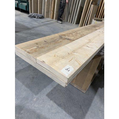 Los blad bankje  240x38 cm gebruikt steigerhout Skylt lak 19