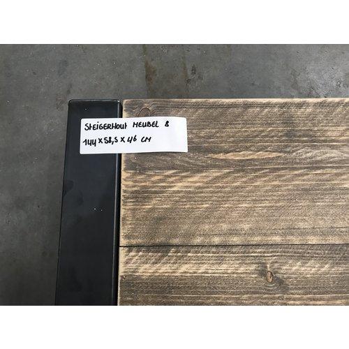 Salontafel steigerhout 8 - 144 x 58,5 x 46