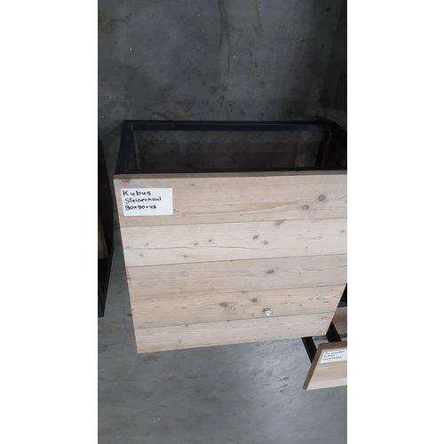 Salontafel kubus steigerhout 37 - 90 x 90 x 46