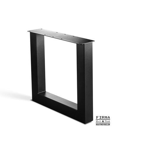 Set Tafelpoten model U 100*100 koker - Transparant