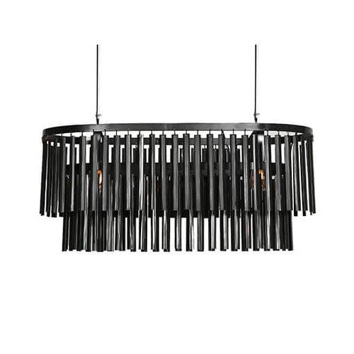 Hanglamp  zwart 90 cm
