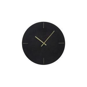 Zwart marmeren klok