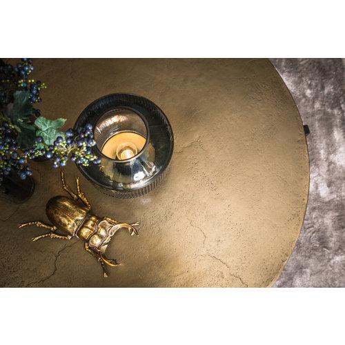 Ace Brass aluminium koffietafel rond ijzeren frame
