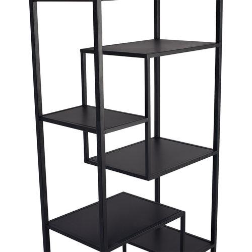 Duana Playful black iron open cabinet high