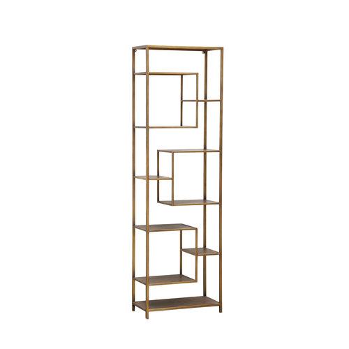Duana Playful gold iron open cabinet high