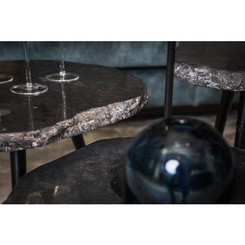 Khine Marble Black sidetable metalen frame sv3