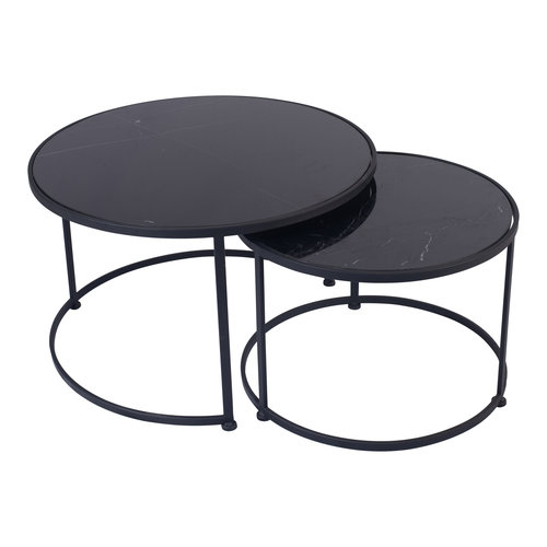Nico Black marble black iron coffeetable