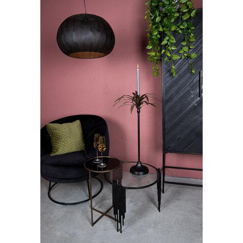 PTMD PTMD Xelena Velvet Zwart fauteuil half rond zwart