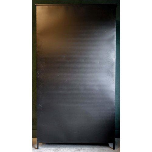 PTMD Elina ijzeren kast 2-deurs zwart
