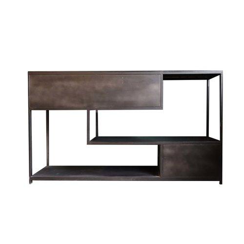 PTMD Duana Playful ijzeren dressoir zwart