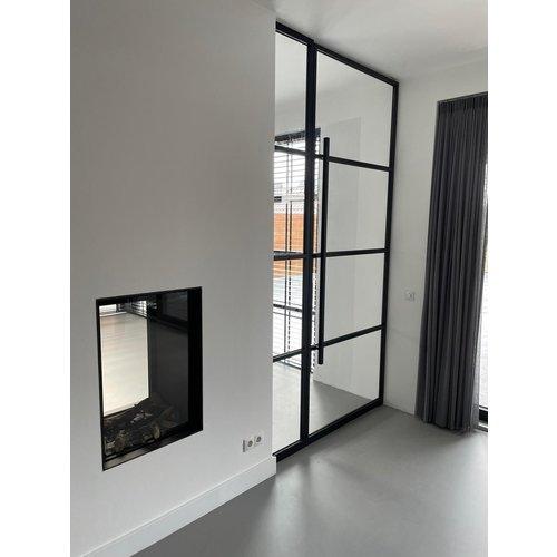 Maatwerk enkele taatsdeur met 1 smal paneel