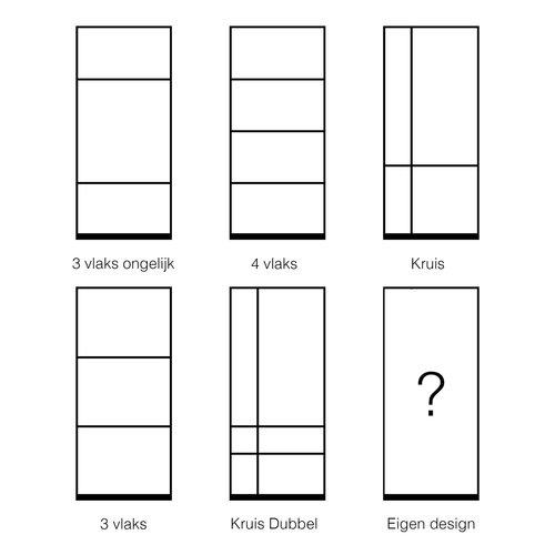 Maatwerk enkele taatsdeur met 1 breed paneel