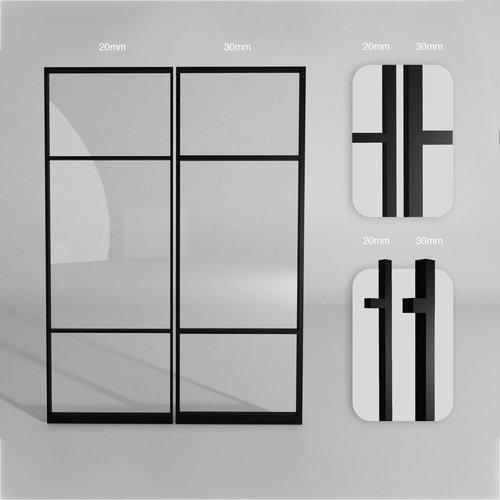 Maatwerk dubbele taatsdeur met 2 smalle panelen