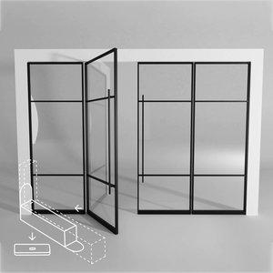 Standaard dubbele taatsdeur met 2 brede panelen