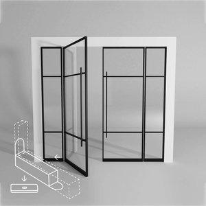 Standaard dubbele taatsdeur met 2 smalle panelen