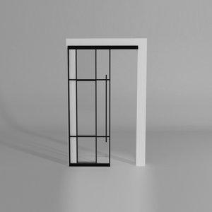 Maatwerk enkele schuifdeur met 1 smal paneel