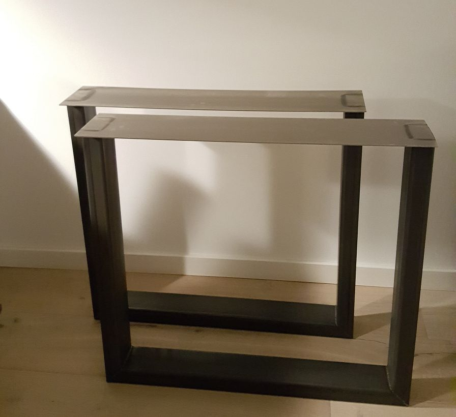 tafelpoten model u 50*100 (set) - firma hout & staal