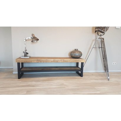 TV-meubel Hout & Staal