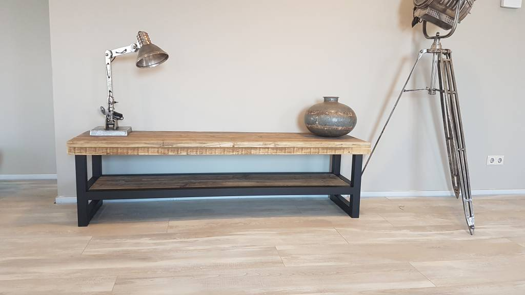 Ondiepe Kast Hal : Tv meubel hout & staal naar wens samen te stellen firma hout & staal