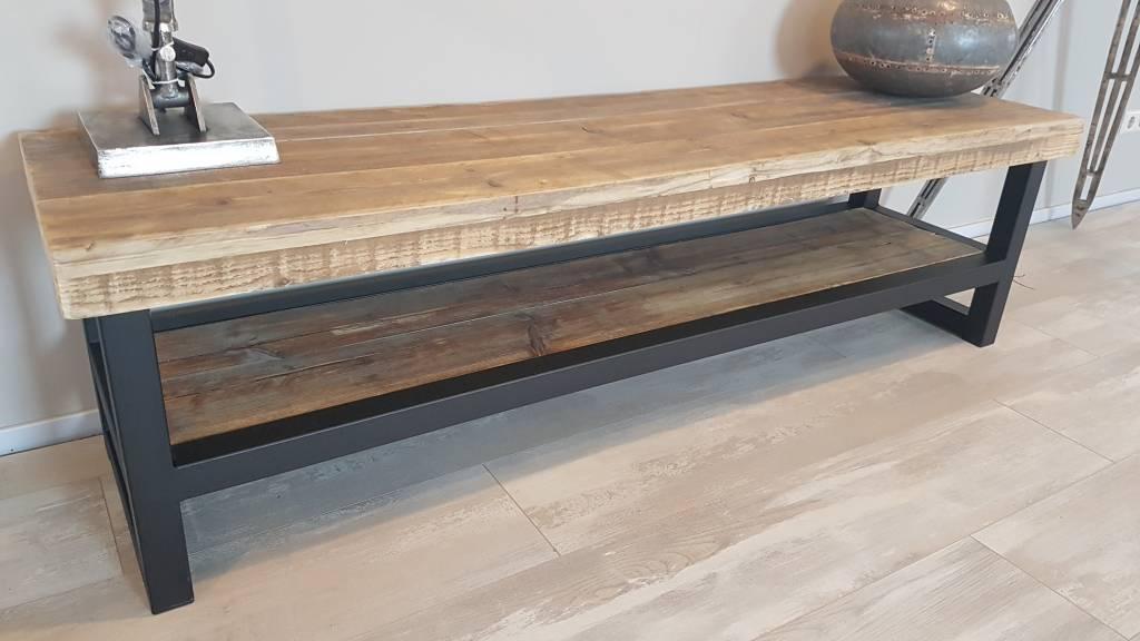 Voorkeur TV-meubel gemaakt van hout en staal | Bestel online of kom langs #SE83